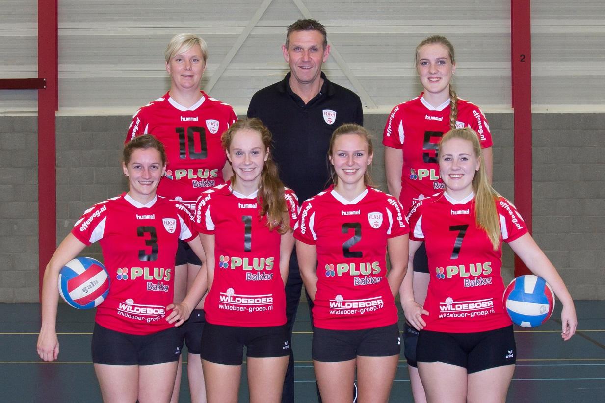 dames 4 volleybalvereniging flash nieuwleusen